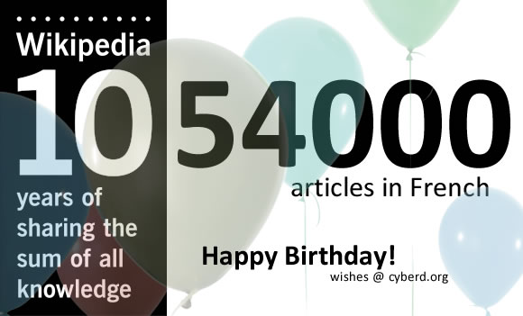 Happy 10 Years Wikipedia