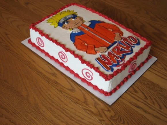 Naruto Fan Cake From A Different Angle