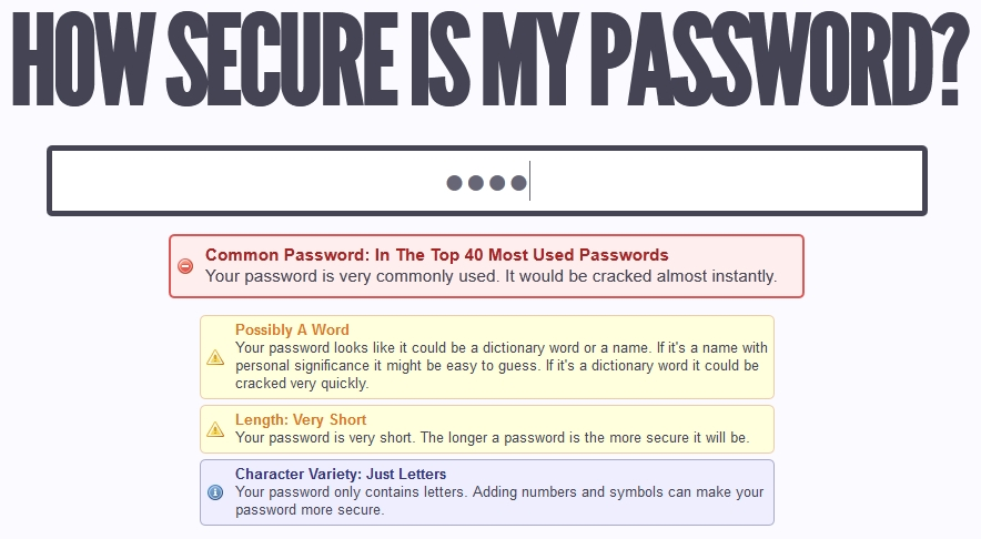 CyberD org / » How Secure is HowSecureIsMyPassword net?