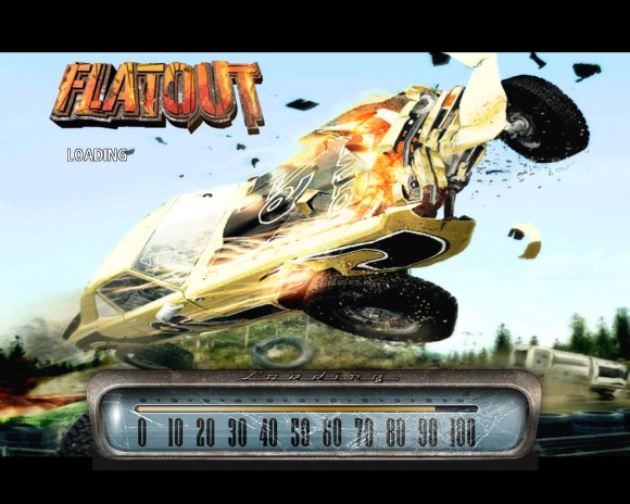 Flat Out! Title Screen