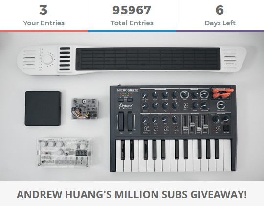 ANDREW HUANG'S MILLION SUBS GIVEAWAY