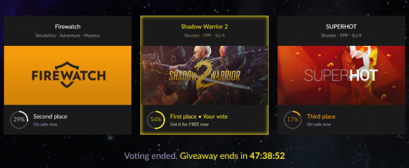 GOG 10 Years Voting Complete! Shadow Warrior 2 Won!