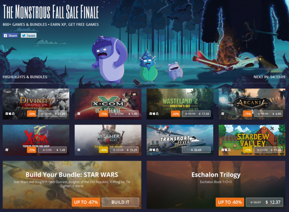 The Monstrous GOG Fall Sale Part 2