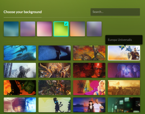 GOG's New Background Image Selection