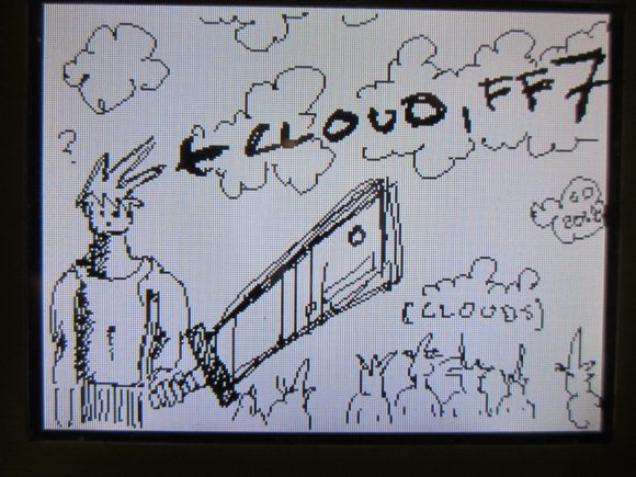 Cloud, FF7, With Clouds
