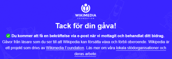 That Yearly Wikipedia Donation
